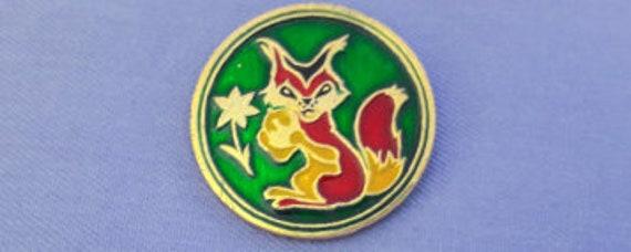 Bull Animal Badge Brooch Souvenir Vintage collectible badge Made in USSR 1980s Pin Buffalo