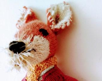 Mr Tod fox knitting pattern