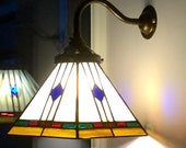 Stained glass Tiffany wall lamp shade