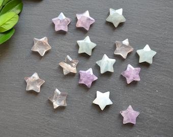 Nature 12 mm star shape gemstone agate pendant--star shape quartz charms beads