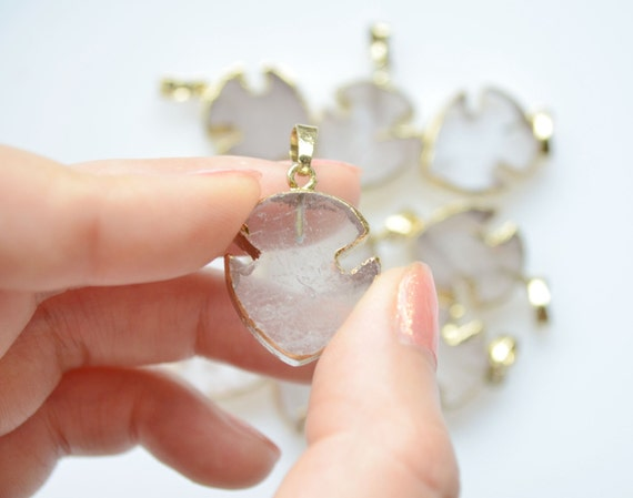 Nature clear quartz crystal moon Pendant clear crystal moon Wedding Party Bridal Jewelry Findings,Jewelry gem Charms Finding