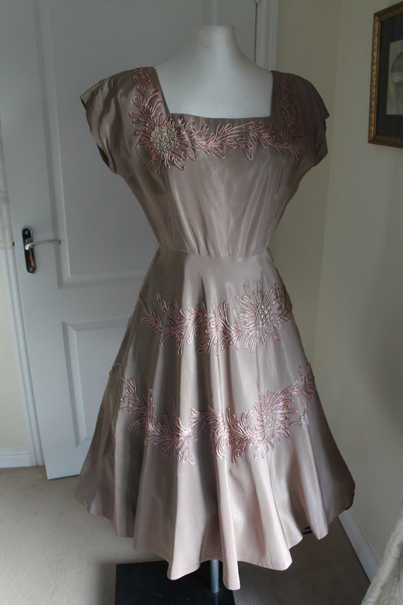 Vintage Cocktail Gown 1950's