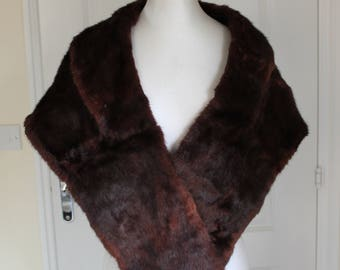 Vintage Red Sable Fur Stole