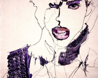Embroidered Icons...Handmade, Personalised, Made to Order embroidered Picture...'Prince'