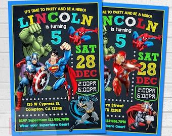 Avengers Birthday Invitation Party Superhero