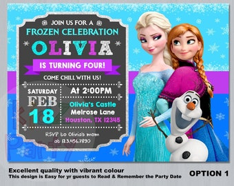 photo about Frozen Printable Invitations identified as Frozen invitation Etsy