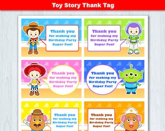 Toy Story Thank You Tag, Toy Story  Thank You Card, Toy Story Thank you Label, Toy Story Favor Tag