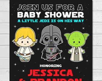 Star Wars Baby Shower Invitation, Star Wars Baby Shower, Star War Baby, Starwars  Baby Shower