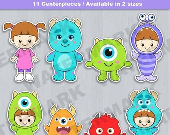 Monsters Inc Cake Topper Baby Shower Birthday Party Theme Centerpiece Cutout