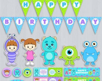 Monsters Inc Party Package Decoration Birthday Decorations