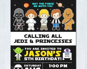 star wars invitation etsy