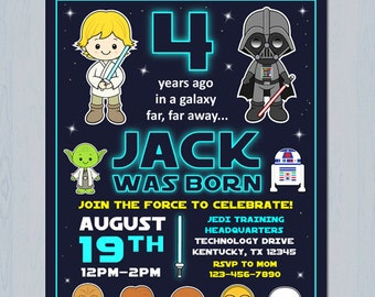star wars invitation star wars birthday invitation star wars party invitation personalized invite 4x6 and 5x7 sizes