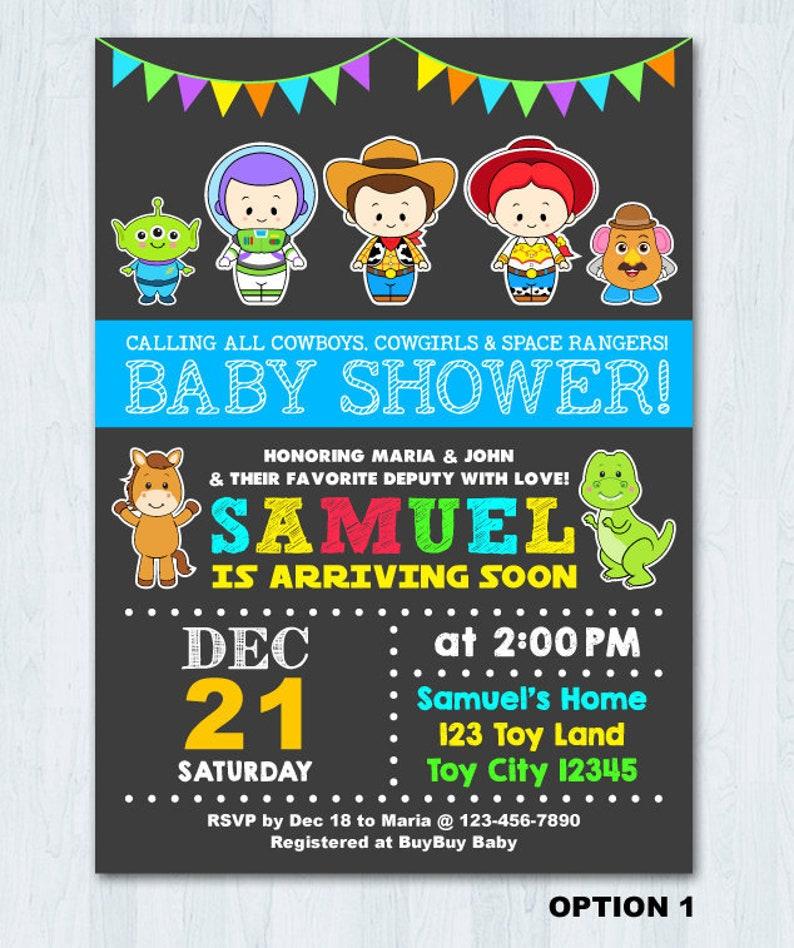Toy Story Baby Shower Invitation Toy Story Invitation Toy Story Baby Shower Invite Card Toy Story Baby Invitation