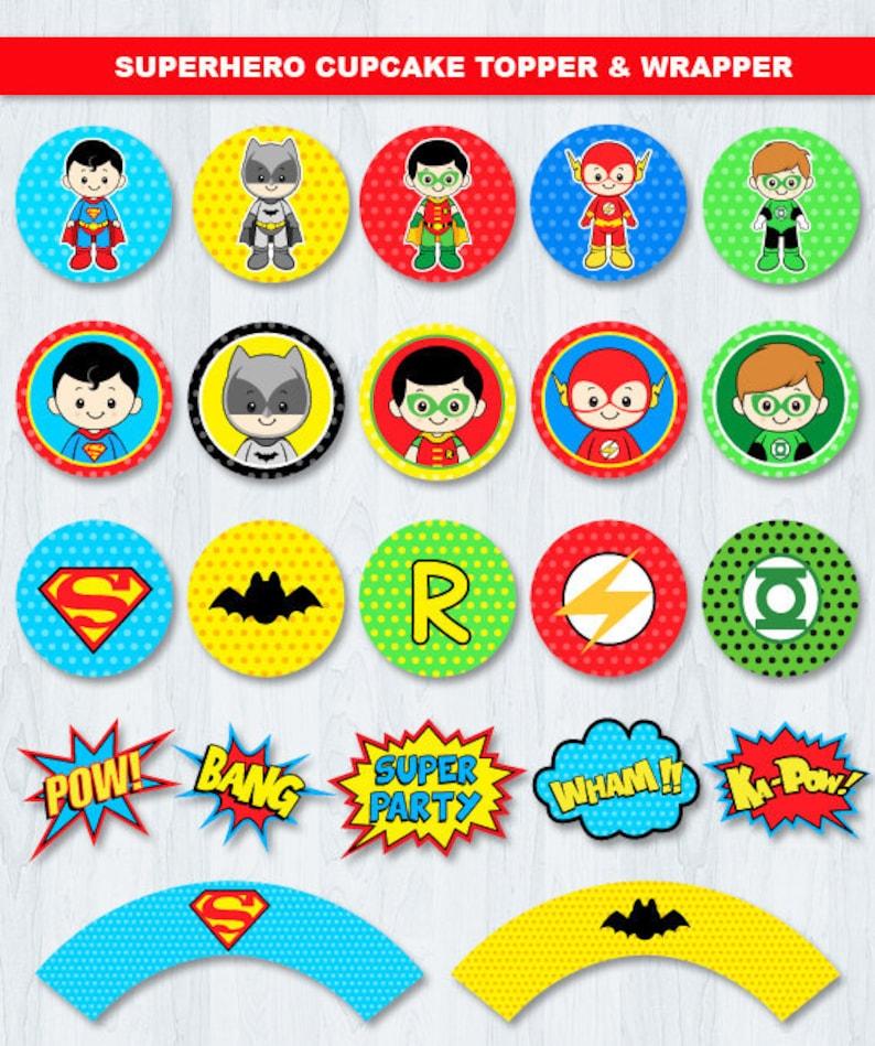graphic regarding Superhero Cupcake Toppers Printable referred to as Superhero Cupcake Toppers, Superhero Social gathering Components, Superhero Cake Topper, Superhero Birthday occasion, Superhero Birthday Social gathering Decorations