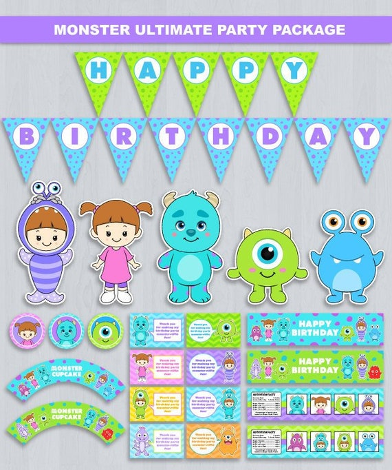 Monsters Inc Party Package Decoration