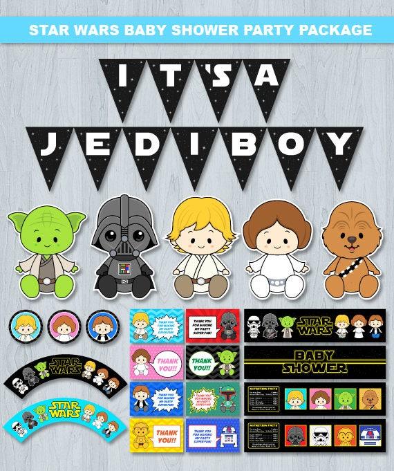 Star Wars Baby Shower Invitation Star Wars Baby Shower Star Etsy
