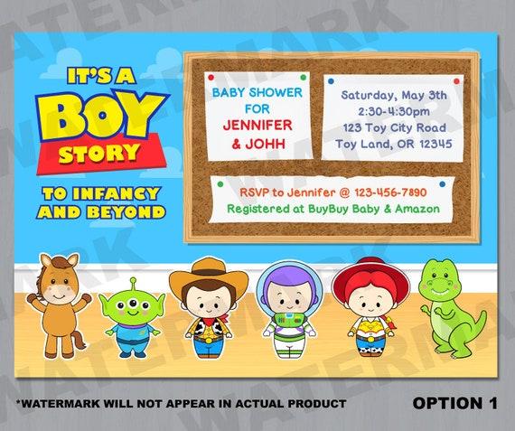 Toy Story Baby Shower Invitation Toy Story Baby Shower Invite Etsy