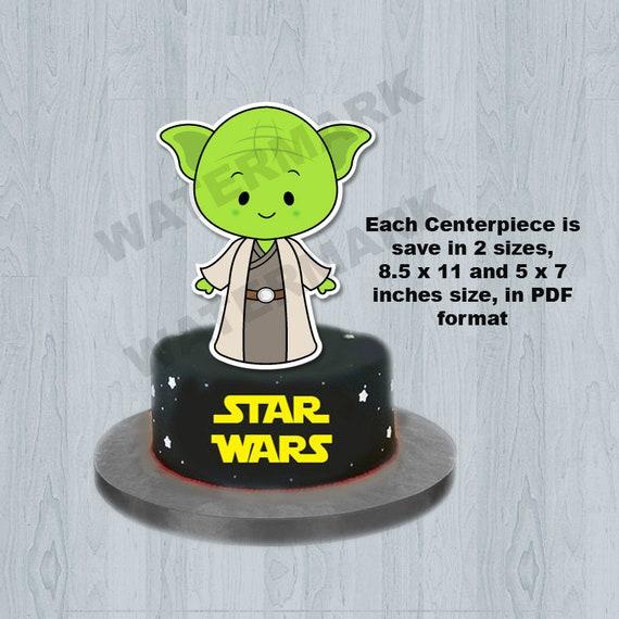 Star Wars Baby Star Wars Cake Topper Centerpiece Nursery Decor Table Centerpiece Cake Topper Decor Decoration Nursery