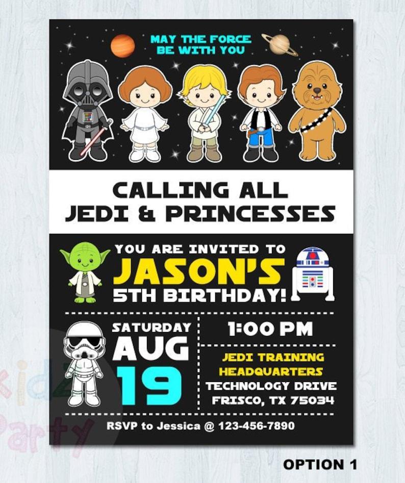 Star Wars Birthday Invitation Party