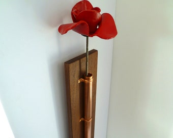 Handcrafted Poppy Holder for the Poppies from the Tower of London - supported by the Royal British Legion