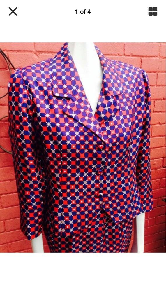 Ladies Vintage silk suit