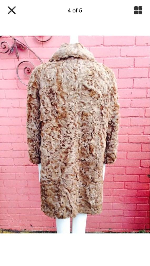Vintage curly lamb fur coat - image 2