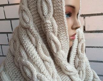 Knit infinity scarf,Knit scarves, handmade, Chunky cowl scarf, Womens knit scavrs, gift for her