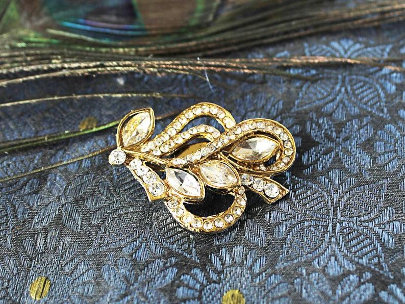 Saree Pin, Sari Brooch, Coat Jacket Pin, Indian Jewellery, sari pin, saree  brooch, safety pin, sari clip, Diamante Stones, bridal jewelry