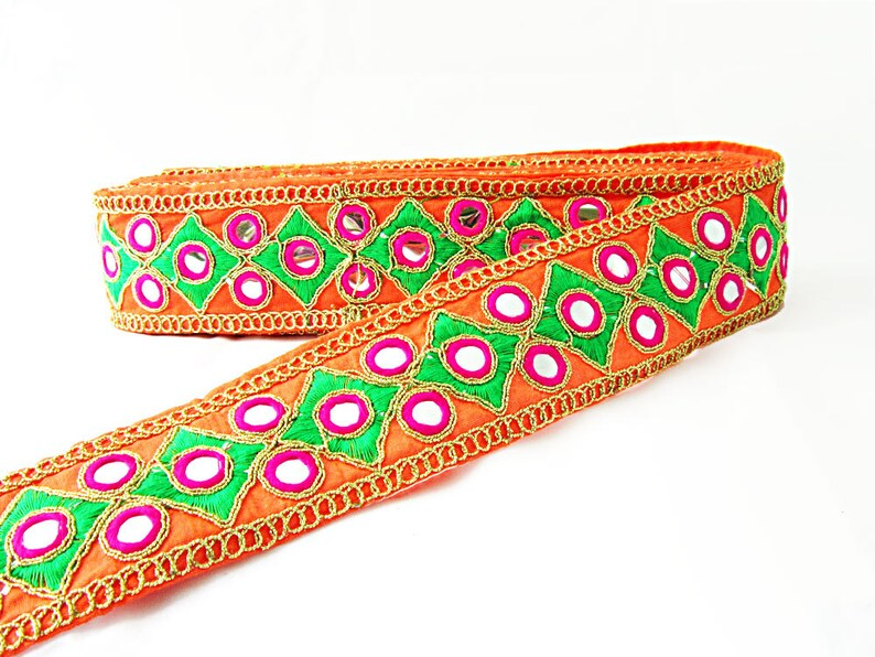 1 M dernières Indian Bollywood Pierre Zari Work Lace Border Ribbon Trim