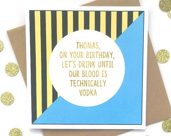 Funny Personalised Birthday Card 18th 21st