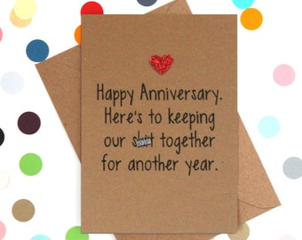 Funny anniversary card, Funny love card, Funny marriage card, One year anniversary card, wedding anniversary card, funny love cards