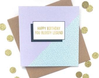 Funny Birthday Card Friend Boss Dad Mum