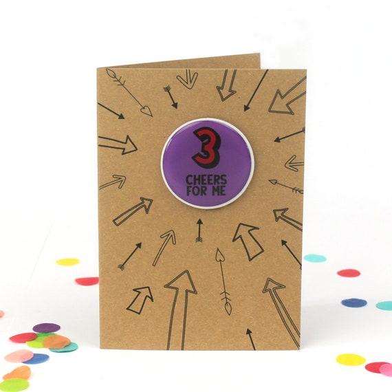 Third Birthday Card 3rd Birthday Card Girl 3rd Birthday Boy Etsy