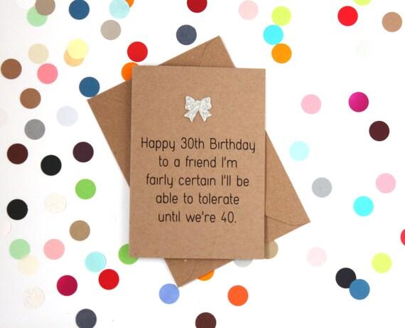 Funny 30th Birthday Card Happy