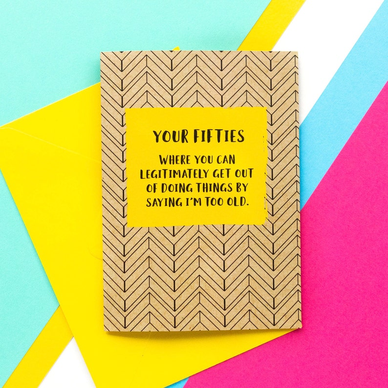 Funny 50th Birthday Card Where You Can Legitimately Get Out