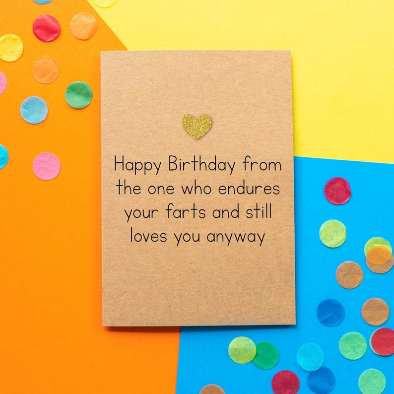 Funny Husband Birthday Card  Happy Birthday From the one who image 0