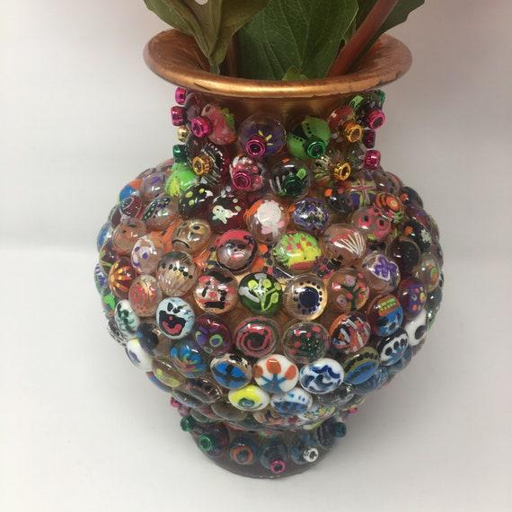 Glass Bead Vase Etsy
