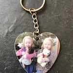 Heart Photo Keychain - Photo Keyring - Custom Keychain - Photo Charm - Custom Keyring Photo - Personalised Keychain