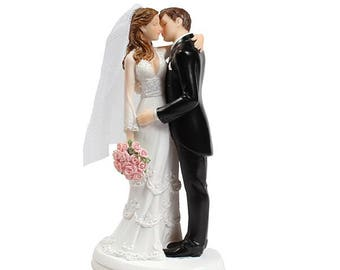 Wedding cake topper Bride and Groom kissing