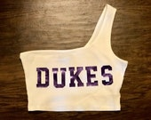 College Tube Top Tailgating Top Strapless Tube Top One Shoulder Solid Crop Top Dukes Gokies Cocky Bulldogs Gators Dawgs Tigers