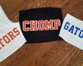 College Tube Top Tailgating Top Strapless Tube Top One Shoulder Solid Crop Top Dukes Gokies Cocky Bulldogs Gators Dawgs Tigers Chomp