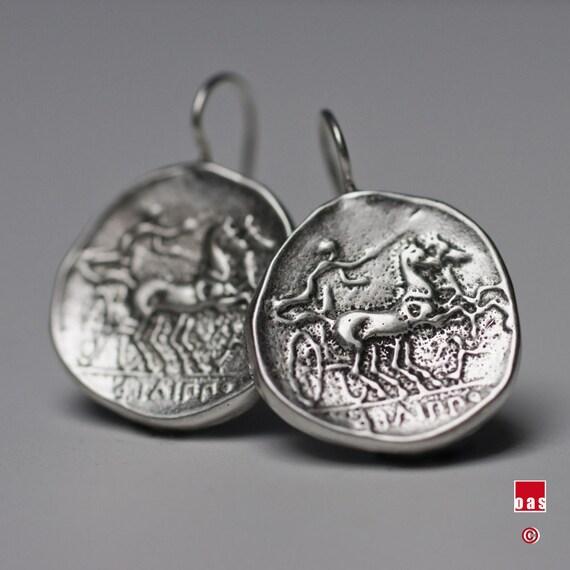 Apollon Coin Bead Handmade in Greece Sterling Silver 925