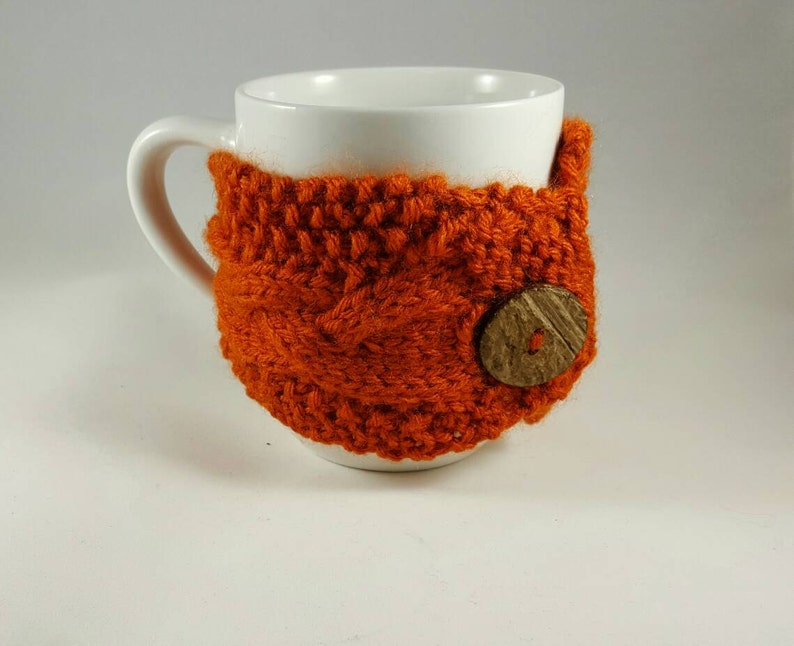 Mug Cozy Cable Knit  Coffee Cup Cozy  Coffee Sleeve  Cup image 0
