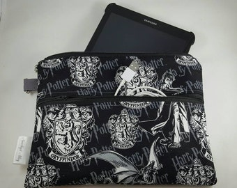 """9-10"""" Tablet Case/Cover/Sleeve/Cozy! Samsung, IPad, Surface, Windows, Kindle, Nook. Zippered Closure! Harry Potter! Dragons!"""