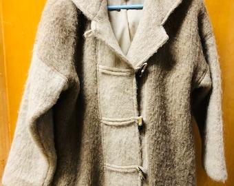 Vintage Hilda Ltd. 100% Pure Wool Ladies Medium Large Iceland Coat w  Hood 3faf342cc
