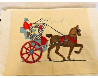 Vintage 1940s Nursery Motifs,Superior Transfer Design For Infants And Toddlers # 164,Use on crib spreads,carriage covers,scarfs,pillows,bibs