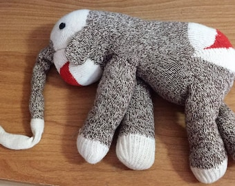 Vintage Sock Elephant (Sock Monkey Type)