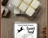 SWEET FEED Equestrian Themed Soy Wax Melt Clamshell, Gifts for Horse Lovers, Horse Candles, Equestrian Gifts, Horse Crazy,