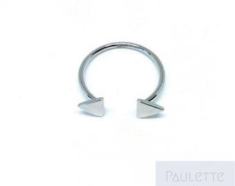 Geometric arrow ring - 925 sterling silver Triangle