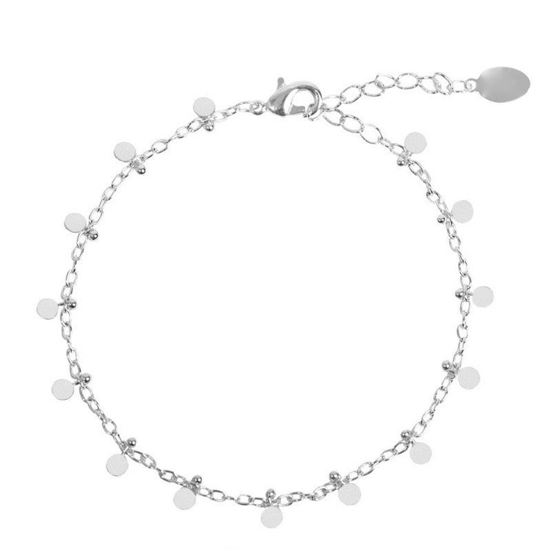 Chain bracelet with small tassel charms beads